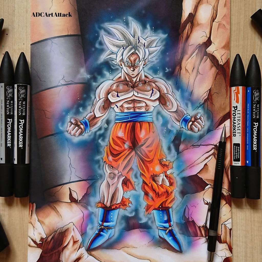 Drawing mastered ultra instinct goku dragonballz amino - Goku ultra instinct sketch ...