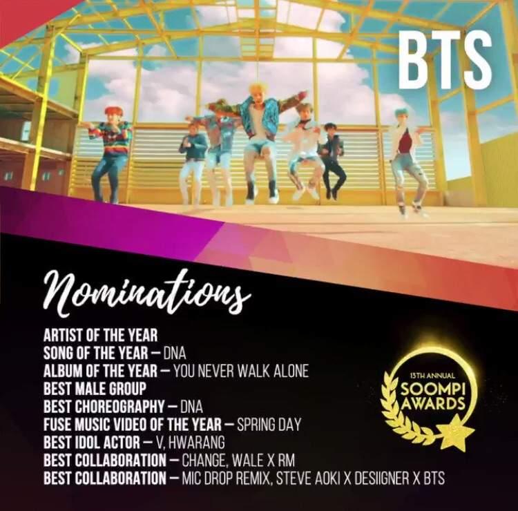 Vote 13th Annual Soompi Awards! | ARMY's Amino