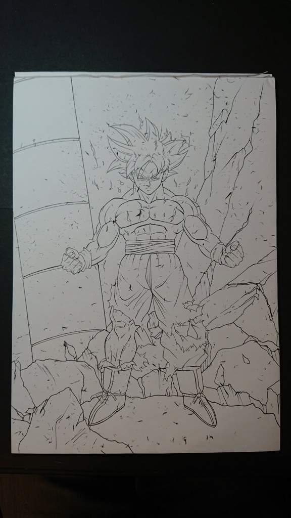 Drawing - Mastered Ultra Instinct Goku | DragonBallZ Amino