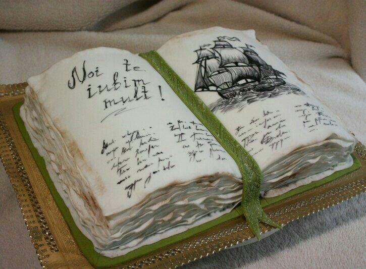 open book cake - 681×501