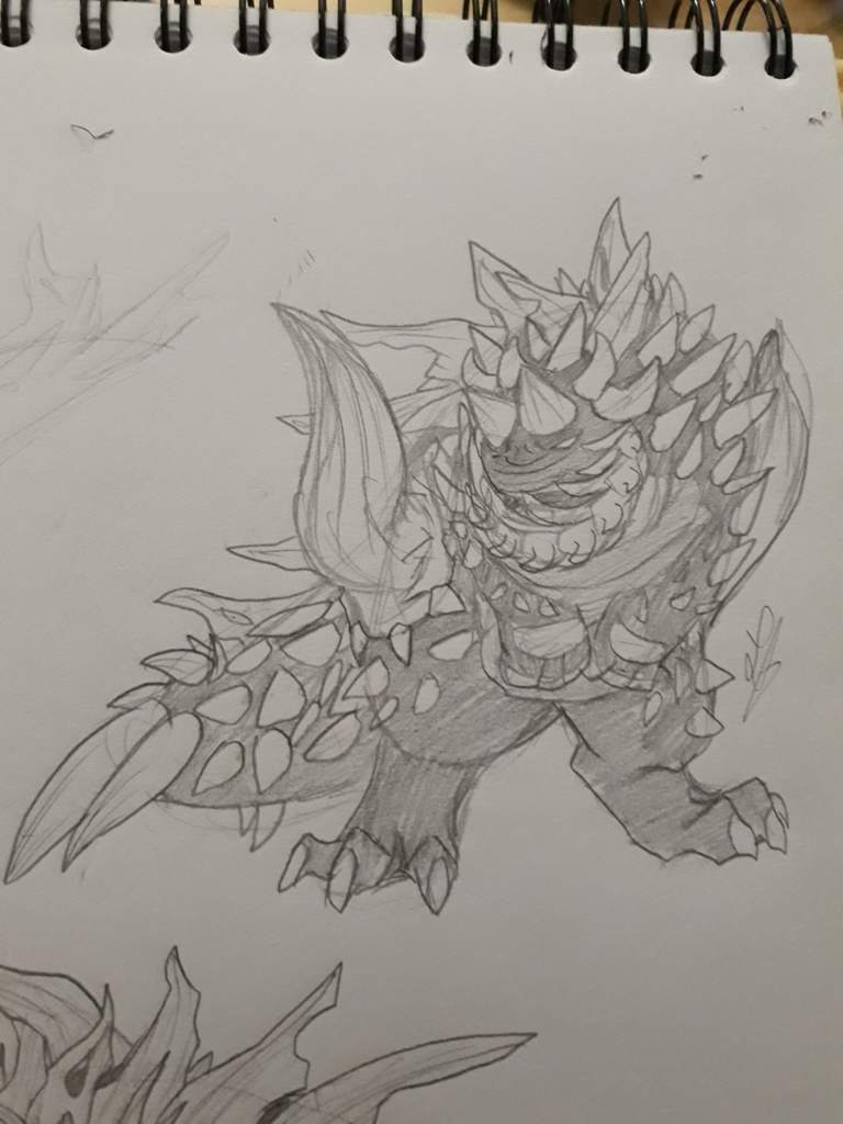 Another Radobaan Sketch Monster Hunter Amino Radobaan is a hulking pile of bones that can roll around with careless abandon for your safety. another radobaan sketch monster