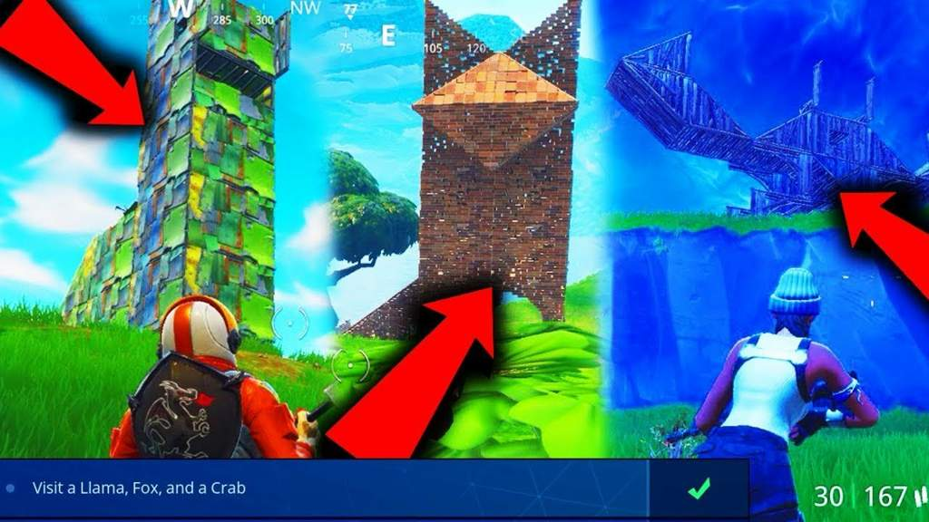 how many of you guys beat find the llama fox and crab statue building quest - llama crab fox fortnite