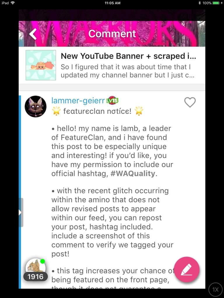 New YouTube Banner + Scraped Ideas | Warriors Amino