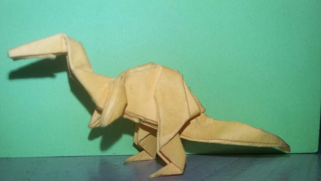 Origami Baryonyx Made With Post It Note Pad Paper Hope Everyone