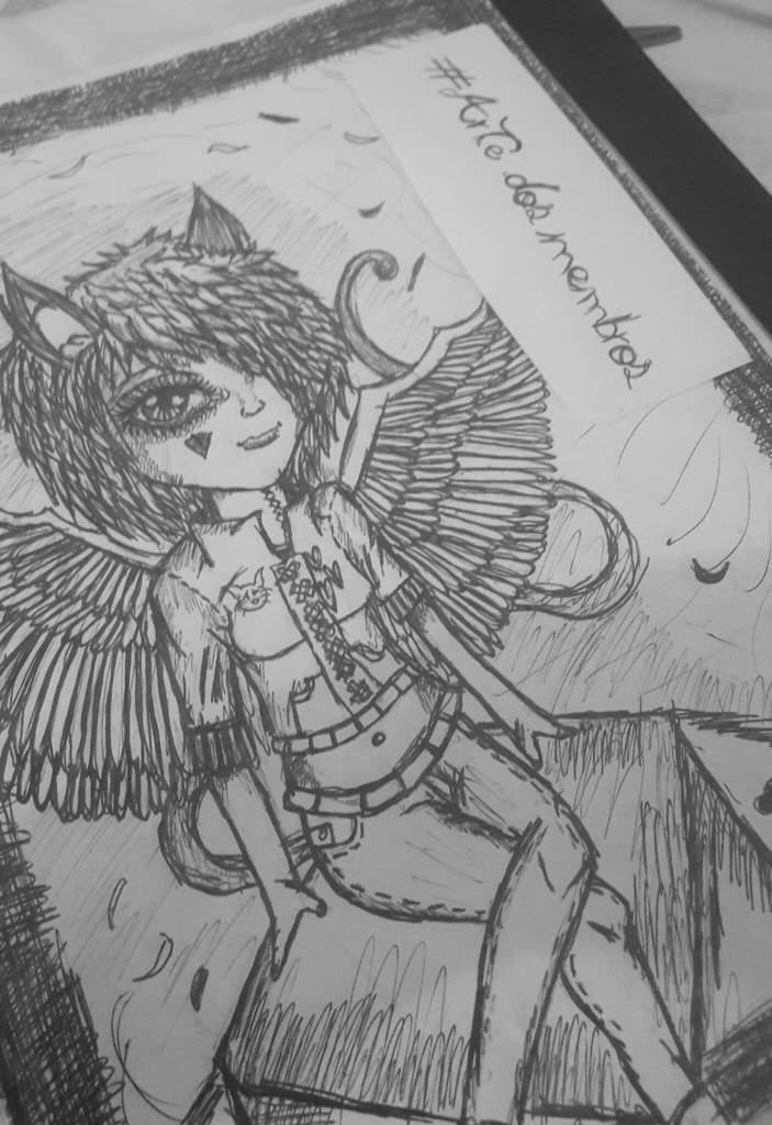 Desenho Sombrio Terror Between Heaven Hell Amino