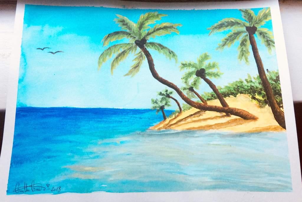 Como Dibujar Paisajes De Playa Dibujarte Amino