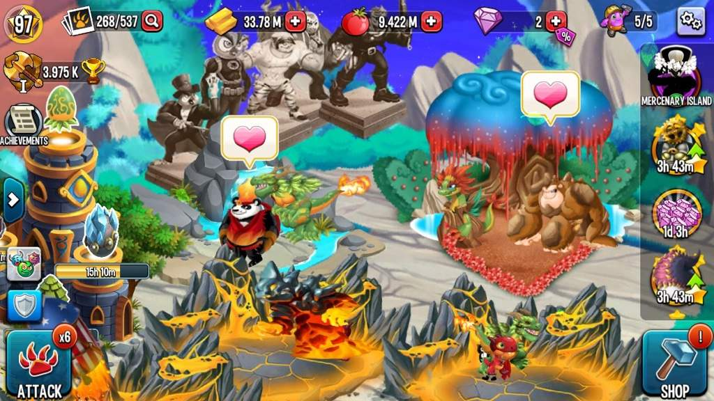 Proggressive Islands and How They Work | Monster Legends Amino