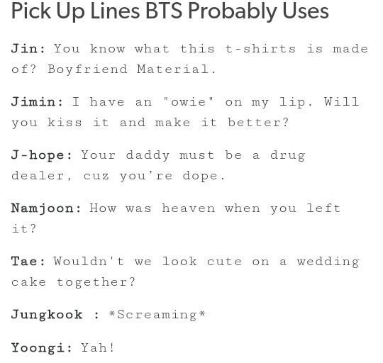 Wedding pick up lines