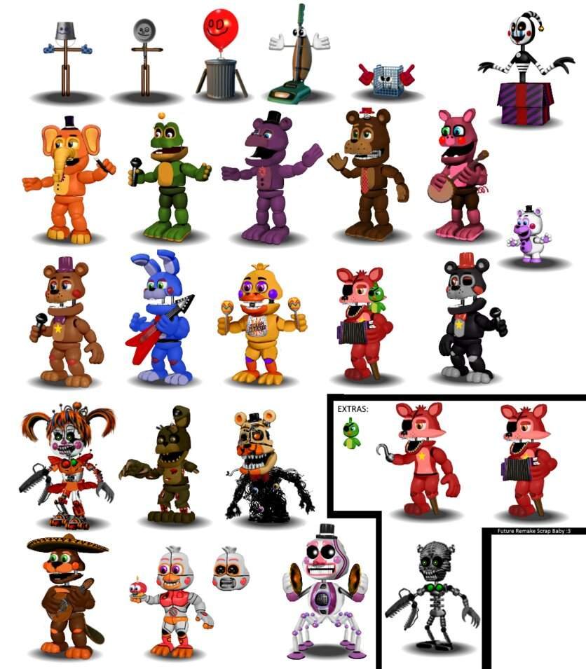 image fnaf 6 all animatronics by diegopegaso87 on deviantart five