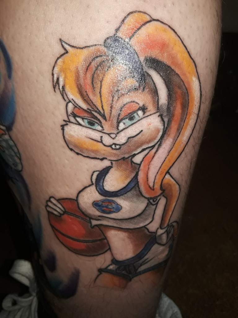 Got These Two Left Leg Tattoos About A Month Ago Lola Bunny From