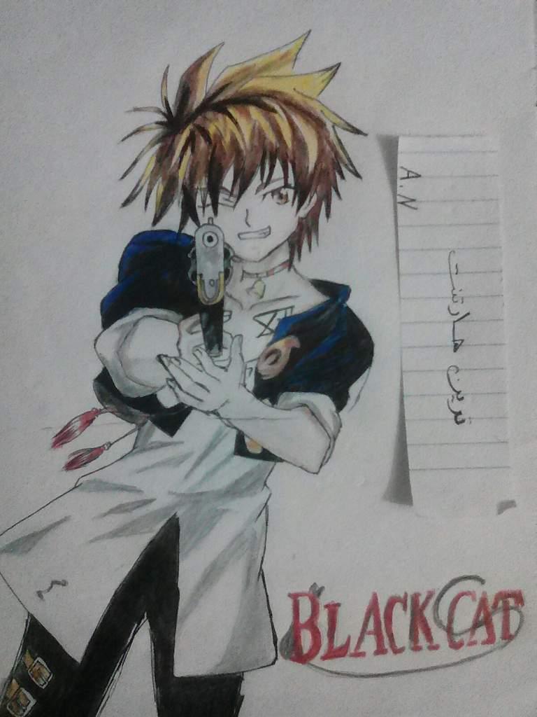 طرقه رسم ترين هارتنت من انمي Black Cat Arab Art تعلم الرسم