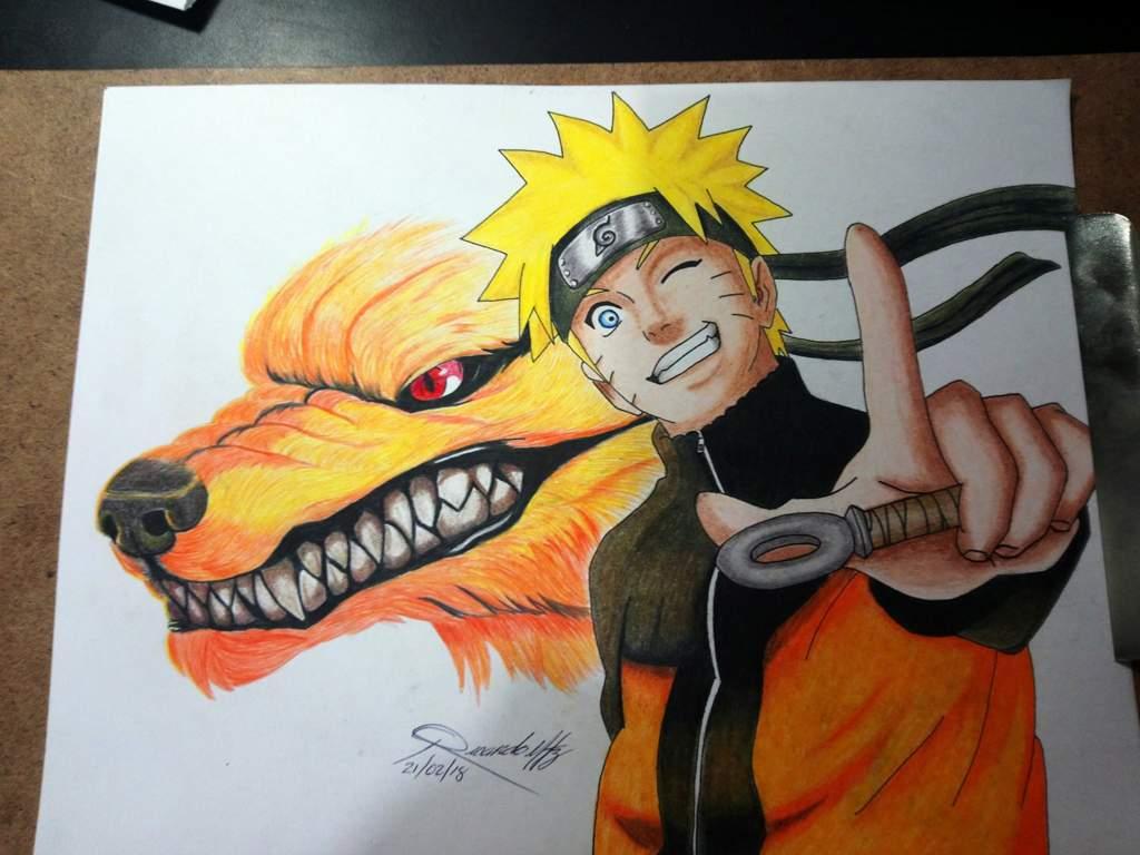 Naruto y zorro de 9 colas algo que he hecho para practicar el ...