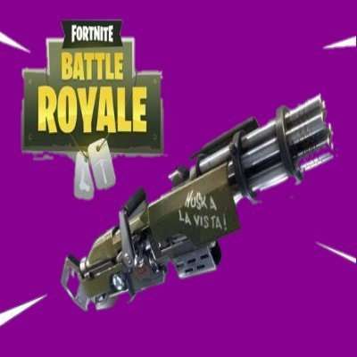 Image result for purple minigun fortnite