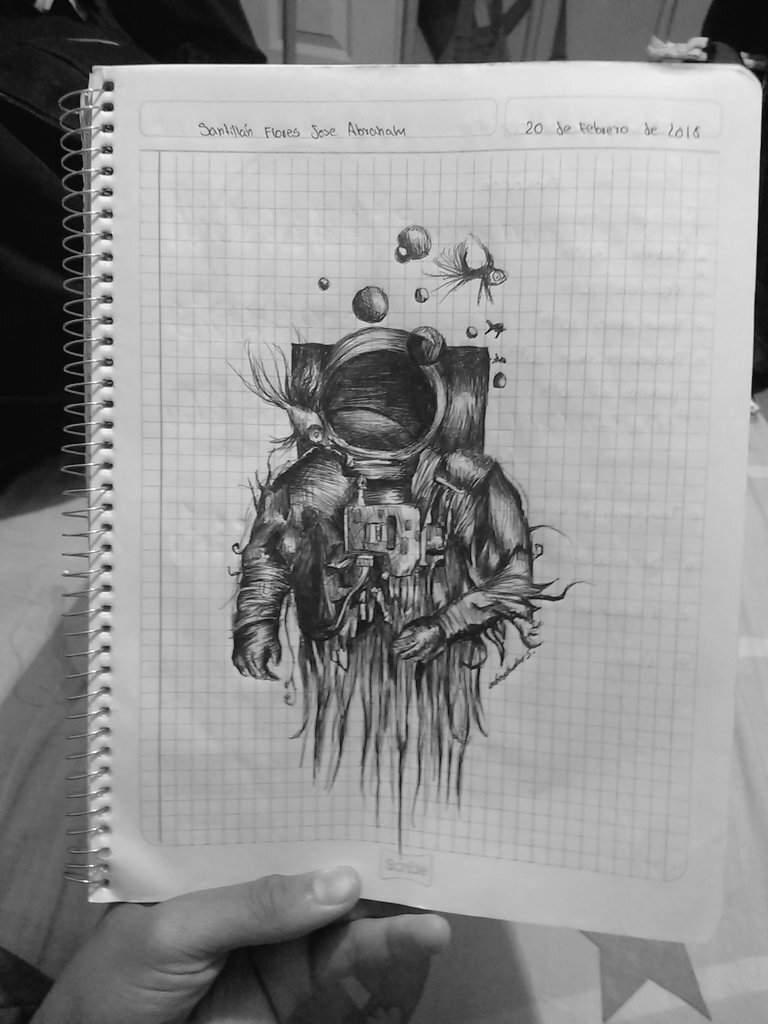 Un Dibujo Que Hice Para La Portada De Uno De Mis Cuadernos