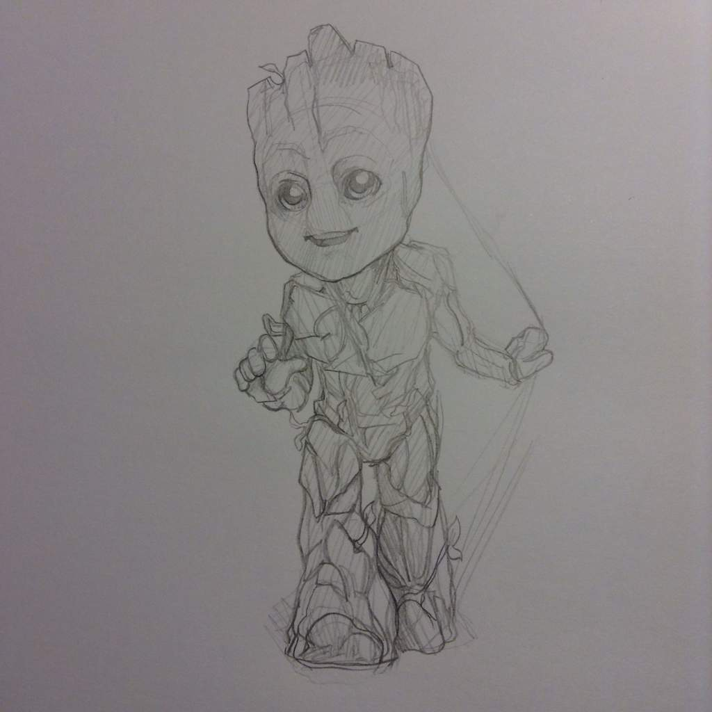 Baby Groot Rocket And Adult Groot Marvel Amino