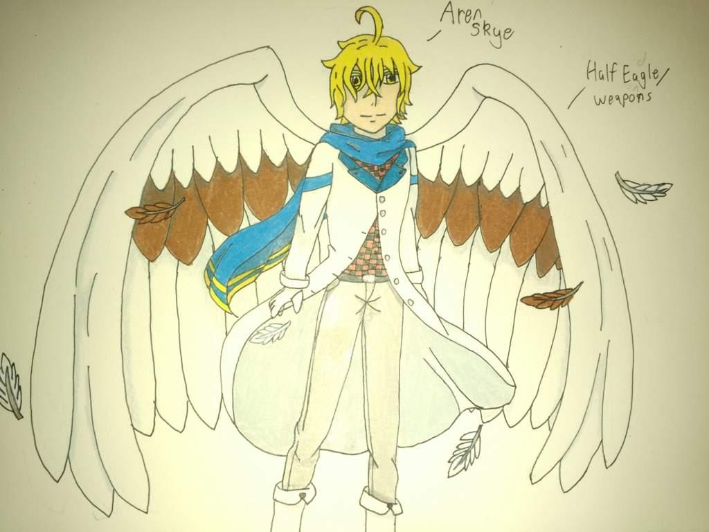 Eagle beast oc anime art amino