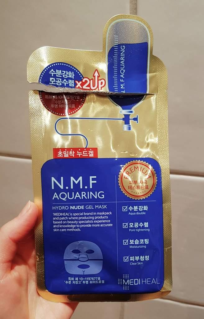 Mediheal NMF aquaring hydro nude gel mask review   Korean