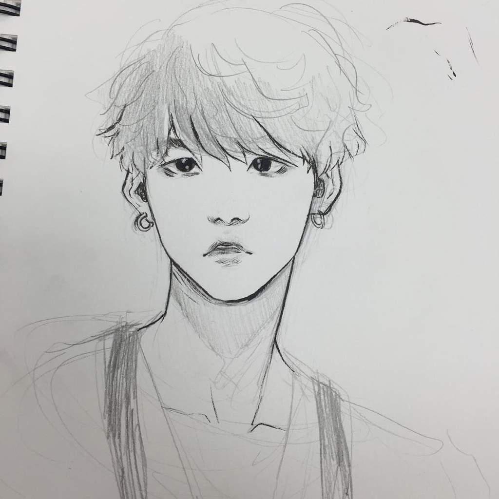 Suga My Bad Boy Btw This Drawing Is Not Mine But I Would Like To Thank Whoever Draw This Army Fanart Amino