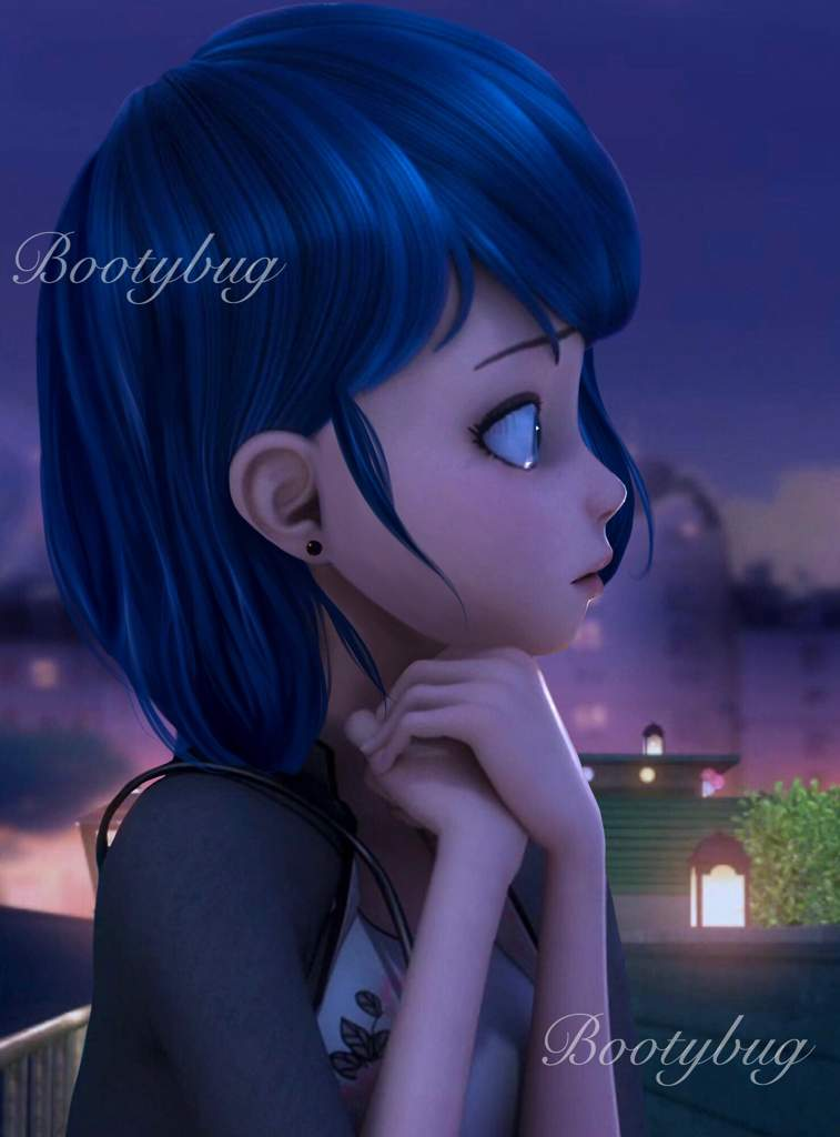 marinette with her hair down miraculous amino