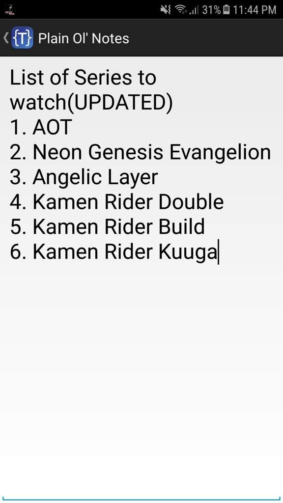 RATE MY WATCHING LIST   Kamen Rider Amino Amino