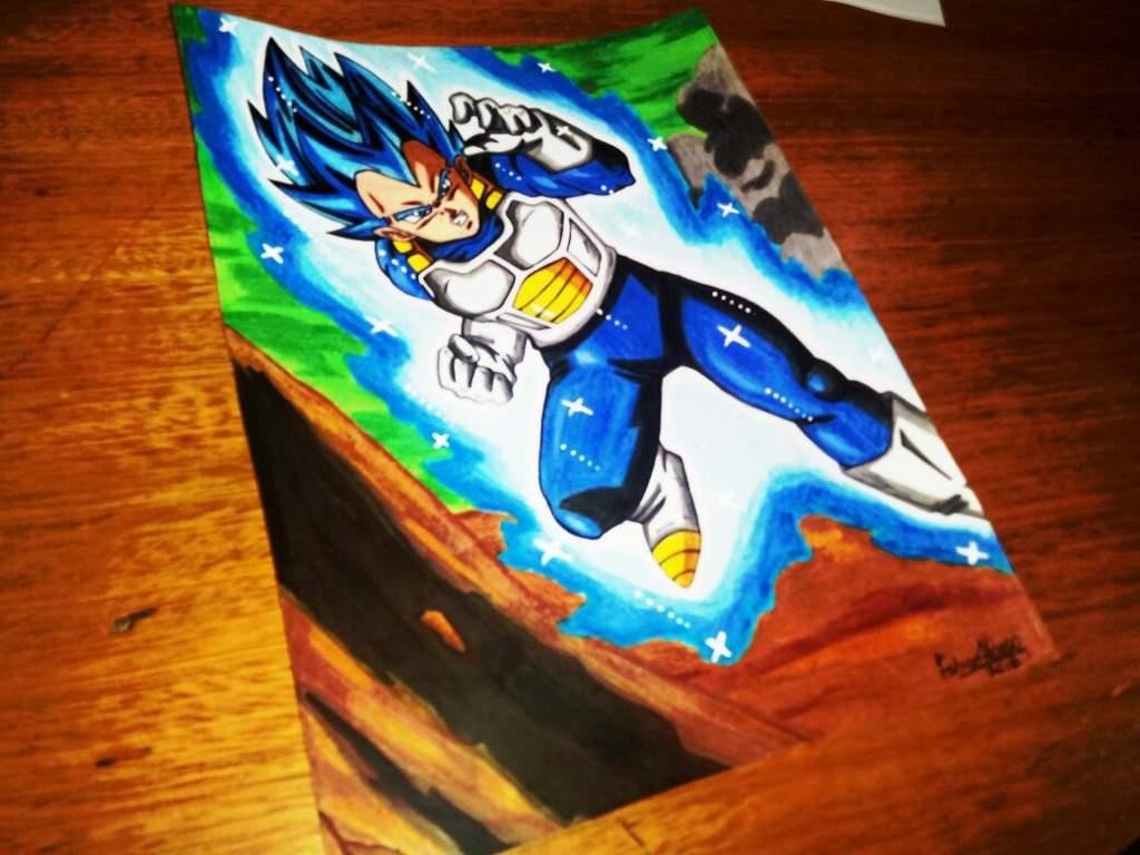 Dibujando A Vegeta Ssj Blue Full Power Drawing To Vegeta