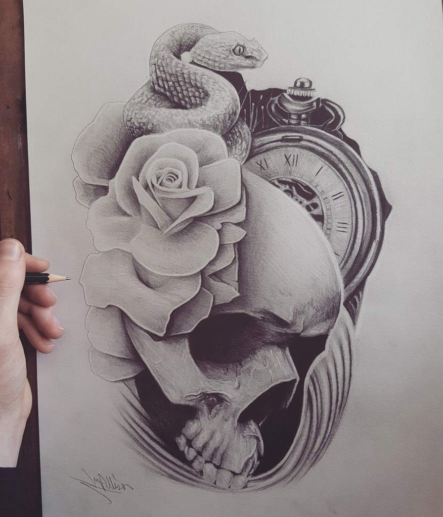 Black And Grey Tattoo Design Art Amino