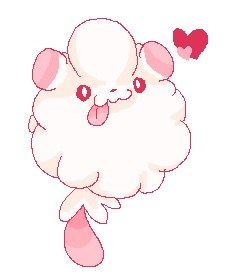 I Really Love Swirlix Because Its Called The Cotton Candy Pokmon Guess It Makes Sense Since This Subsists Purely On Sweets Which Fur