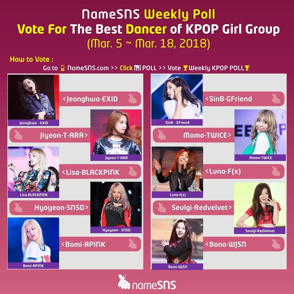 📊Vote For The Best #Dancer in KPOP Girl Group | K-Pop Amino