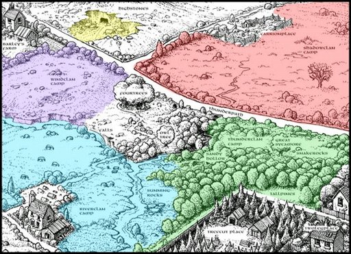 Warrior Cats Map Warrior Maps   Wiki   Warriors Amino