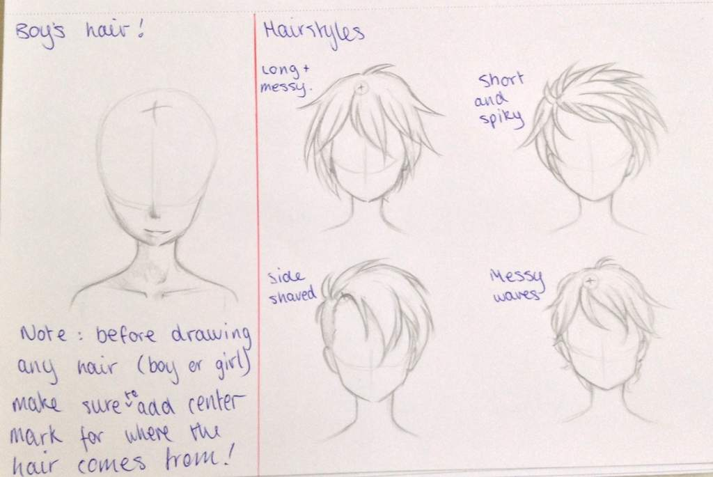 Boys Hair Refences Anime Art Amino