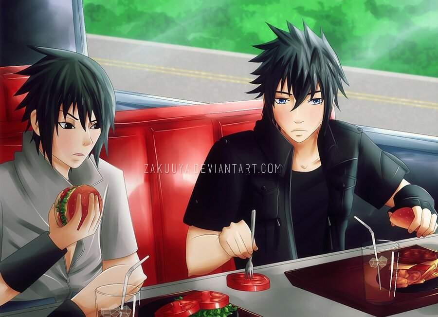 Sasuke and noctis two look alikes | Anime Amino