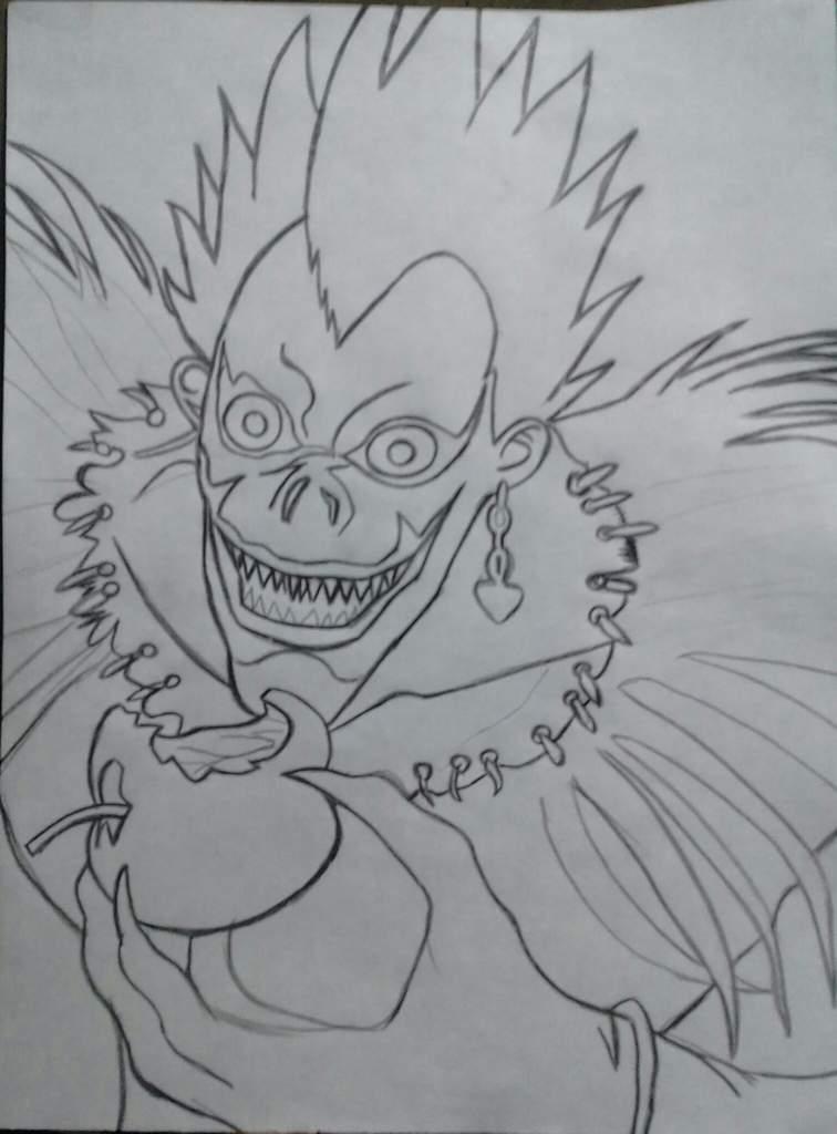 Mi Dibujo De Ryuk Death Note Terror Amino