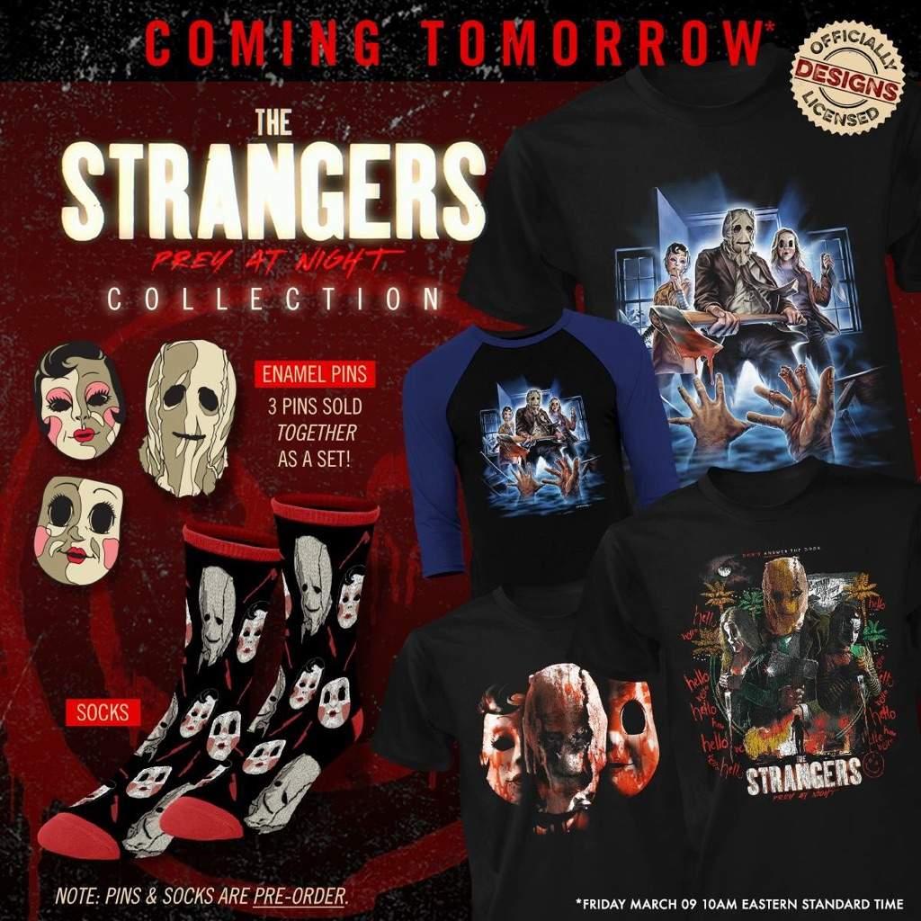 #frightrags #thestrangerspreyatnight #thestrangers2 #thestrangers #horror # Horrormovie #horrorfilmfan #horrorshirt #enamelpins #pingame #socks  #graphictee # ...
