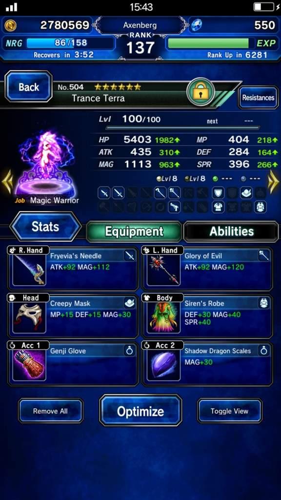 FFBE Unit Review: Trance Terra | Final Fantasy Amino