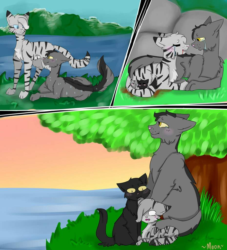 коты воители крутобок и серебрянка картинки