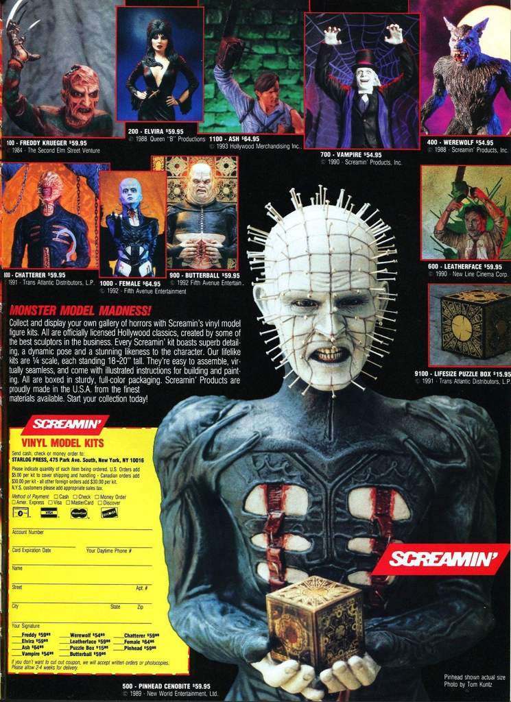 SCREAMIN' horror movie model kits from the glorious 1980′s