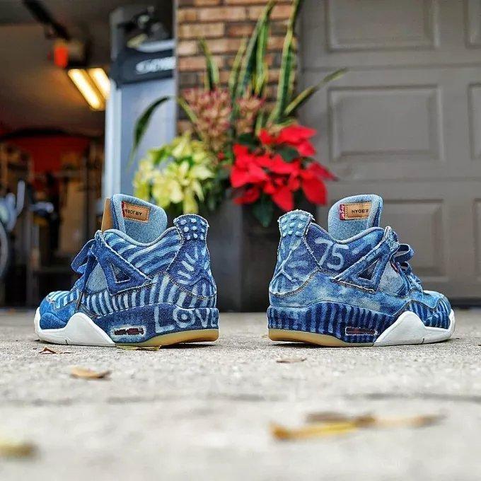 a174aa1057c 20 Ways People Have Customized the 'Denim' Levi's x Air Jordan 4 Retro