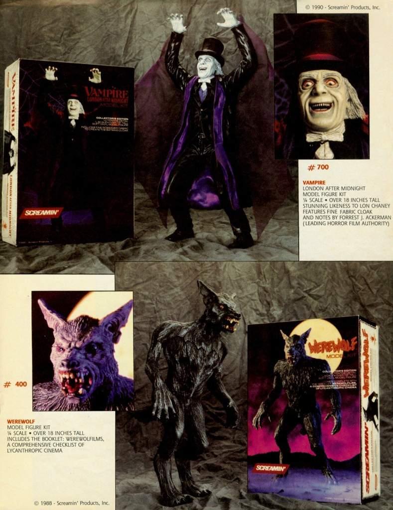SCREAMIN' horror movie model kits from the glorious 1980′s  | Horror