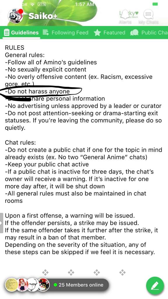 online chat rules