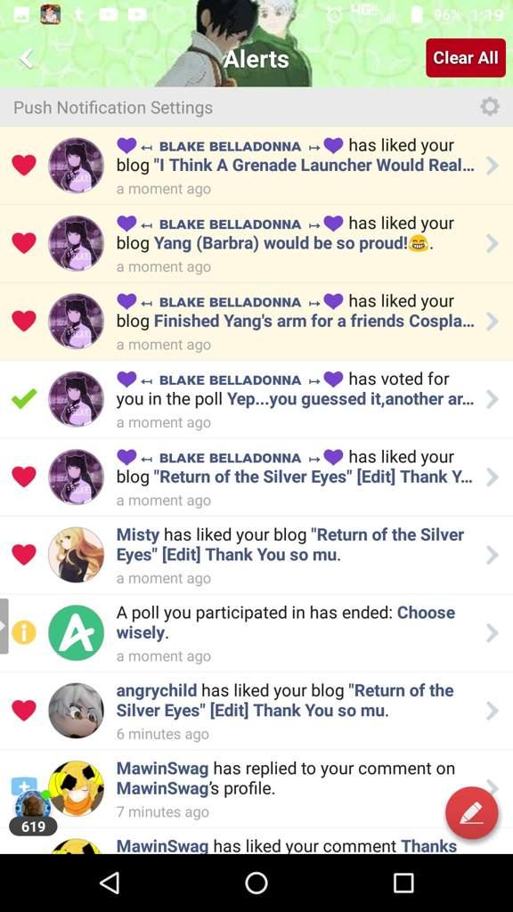 Thanks 💜~Blake Belladonna~💜, SyreethWrites,Roman Torchwick