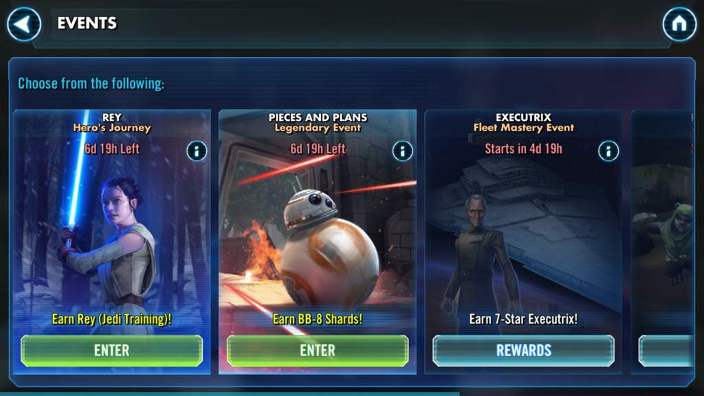 Swgoh - Rey and bb8 events active | Star Wars Amino