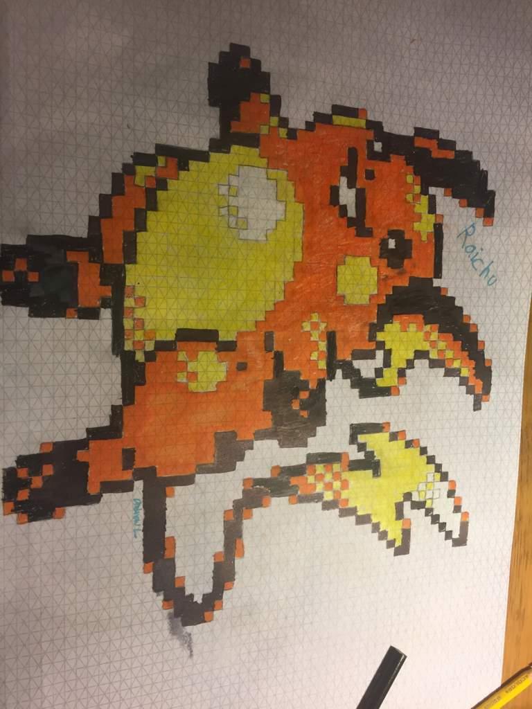 Raichu Pixel Art Pokémon Amino