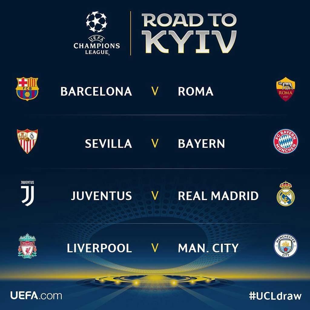 Cuartos de final de la UEFA Champions League | Fútbol Amino ...