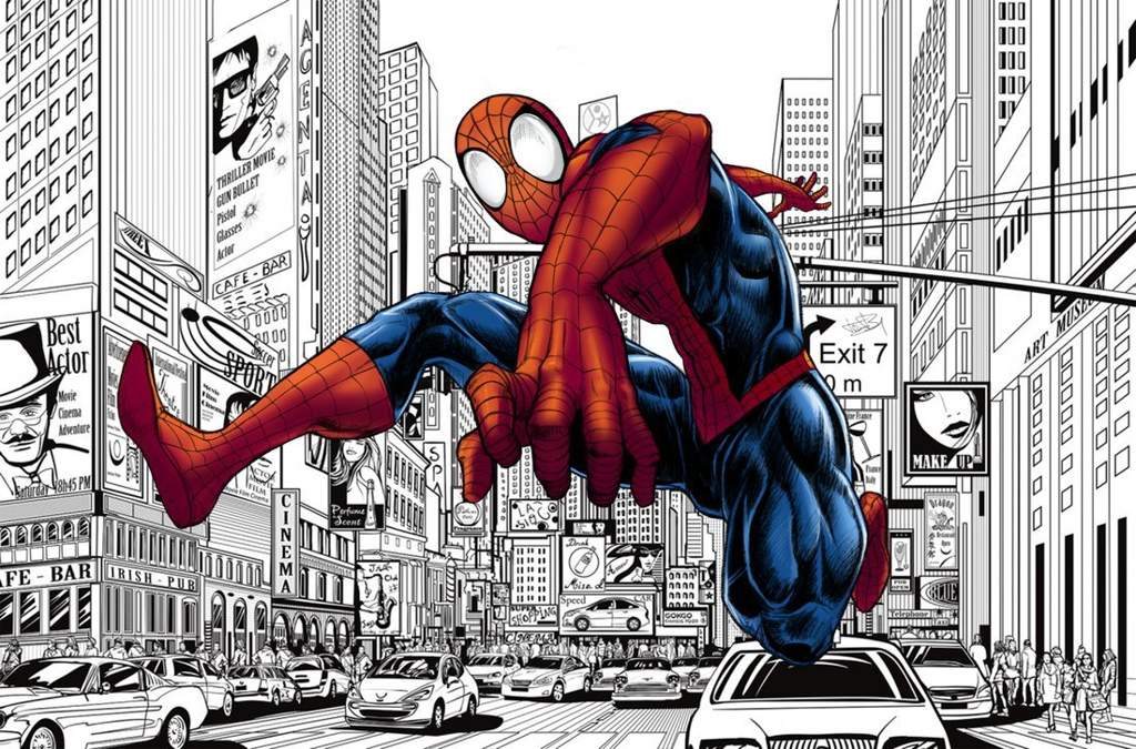 Картинки комиксов человек паук