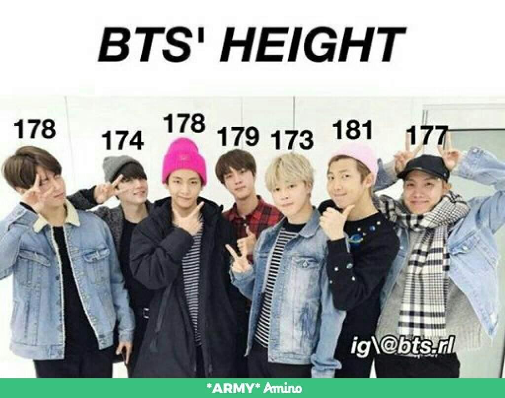 BTS HEIGHT〽〽 | ARMY's Amino Amino