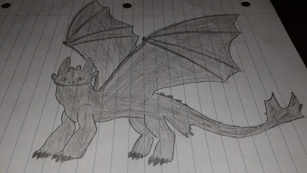 My Night Fury Drawing H T T Y D Amino