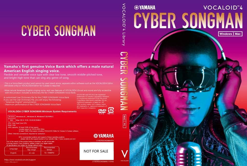 CYBER SONGMAN printable boxart download | Vocaloid Amino