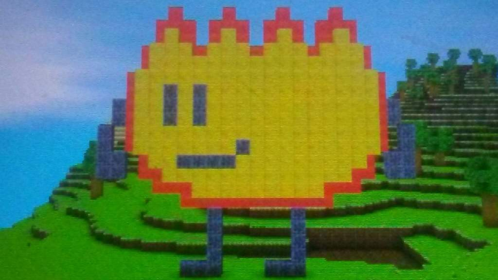 I Made A Firey Pixel Art On Cube Creator 3d Bfdi Amino
