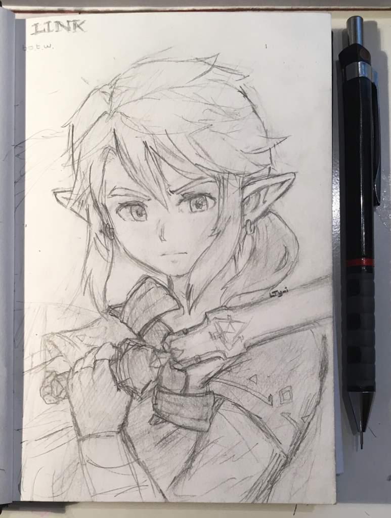 Link Dessin A L Aquarelle The Legend Of Zelda Francais Amino