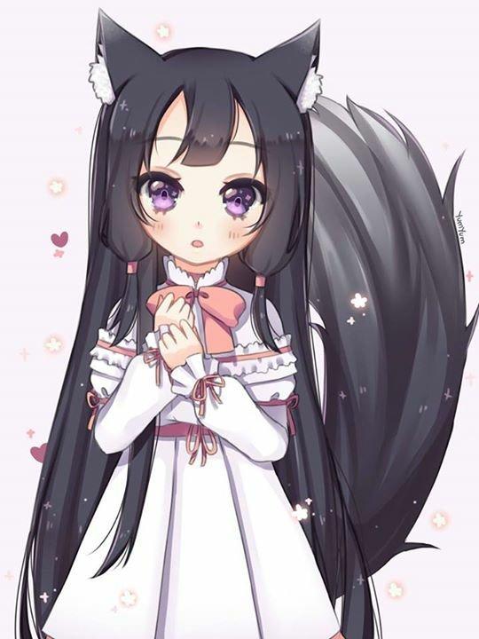 Милые картинки аниме девочек с ушками